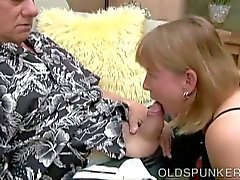 Cute mature gives a great blowjob