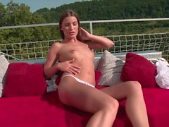 Zuzana Pribramska spreads her pussy and enjoys herself