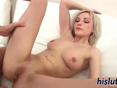 Young cutie Izabella receives a creampie