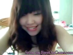 Korea cam girl displays her arousing little body