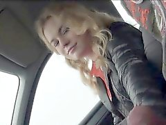 Russian teen wanks strangers stiff cock