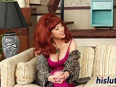 Busty Kagney Linn Karter enjoys masturbating