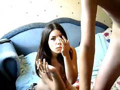 Hot sexy teen blowjob and fucking hard doggystyle
