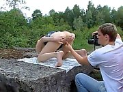 Filming ass and cum-hole gapes