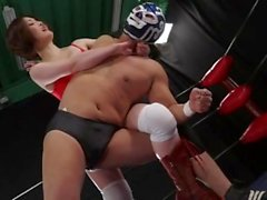 Japanese wrestling & facesitting