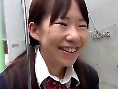 Uniform asian toying cunt