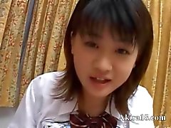 Japanese babysitter gives a blowjob