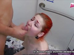 German couple public toilet fuck