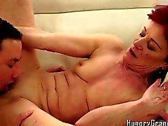 Super hot granny fucks young boyfriend