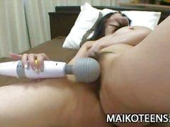 Saki Eguchi - Japanese Teen Enjoying Sex-Toys And Cock