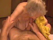 Cumshot on granny saggy tities wit Angele from 1fuckdatecom