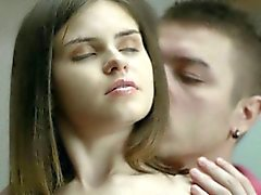 Perky tits teen Lera enjoyed ass fucking for the first time