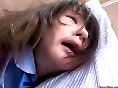 Asian Schoolgirl gets fucked on a bus
