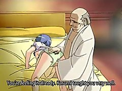 Young girl pleasures old man cock