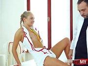 Hot nurse anal and cumshot
