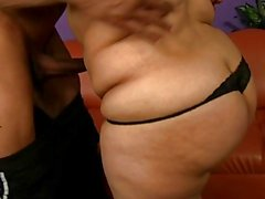 Chubby slut bends over and gets hard doggystyle