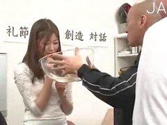 Jap schoolgirl drills in class 02