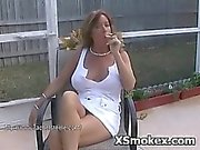 Wild Horny Slut Smoking