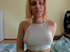 Teen tight white top hard nipples pokeys nice round ass butt