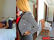 Stepmom caught teen fucking with her bf