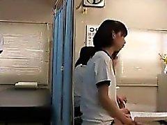 Petite Japanese cutie has a nerdy guy thoroughly examining