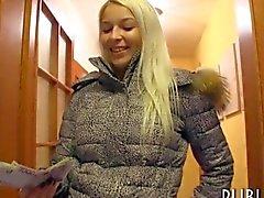 Amateur blonde Czech slut banged in exchange for cash