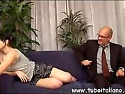 Succulent Italian teen seduces an old businessman