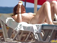 Beach Spying On Topless Horny Teens