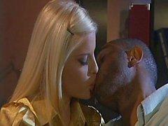 Young beautiful blondie taking big cock