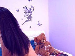 Teenage Beauty Bubble Butt Riding Her Teddy Bear