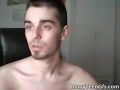Sexy hunk posing naked on webcam