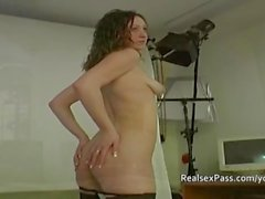 Amateur British teens behind the scenes audition