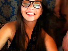 Teen brunette from get fuck on webcam