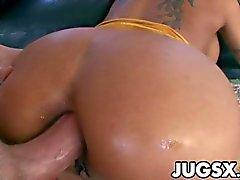 Mahina Zaltana gets pounded after sucking a whitey