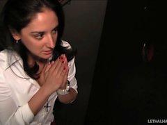 Teen school girl Sheena Ryder begs for cock at church