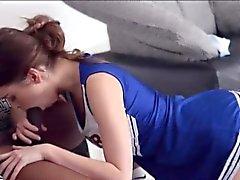 Sweet teen babe Riley Reid gets fucked by big black cock