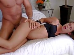 Cute Bentley gets her hands bound behind her back and fucked good and hard