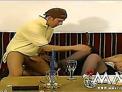 Naughty mature lady banged hardcore by young stud