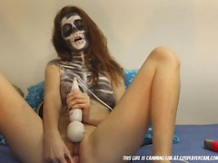 Halloween Skeleton Masturbating For Fun...