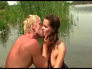Young Playful couple fucking by the riverside