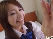 a hot Asian babe is fucking and moaning hard