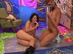 Hot athletic teen snapchat Hairy Kim and smoothly-shaven Jan