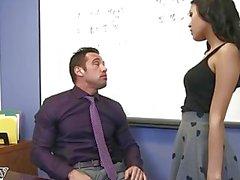 Naughty student Josie Jagger blows and fucks her teacher - Naughty America