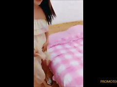 LiuTing cumshot fuck with her boy in her appartment