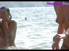 Kinky NUDIST Beach Babe Voyeur Video