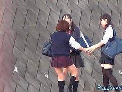 Japanese teenagers piss
