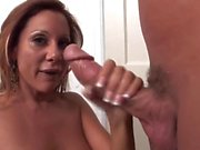Long legs mature milf with big tits fucks great 2