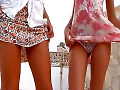 Two german chicks naked outdoor