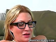 Blonde MILF And Teen Taking Turns Doggystyle In Threesome