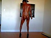 Young Ebony Girl Dancing Naked